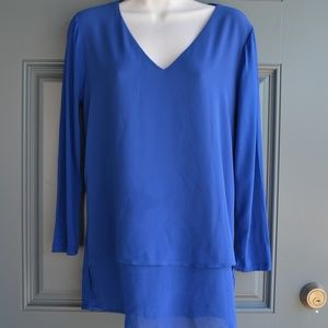 Blue High/Low Tunic Top by Michael Kors Sz. S